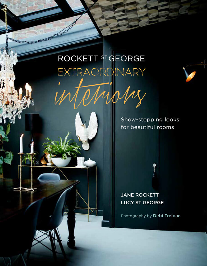 Front cover of Rockett St George Extraordinary Interiors book