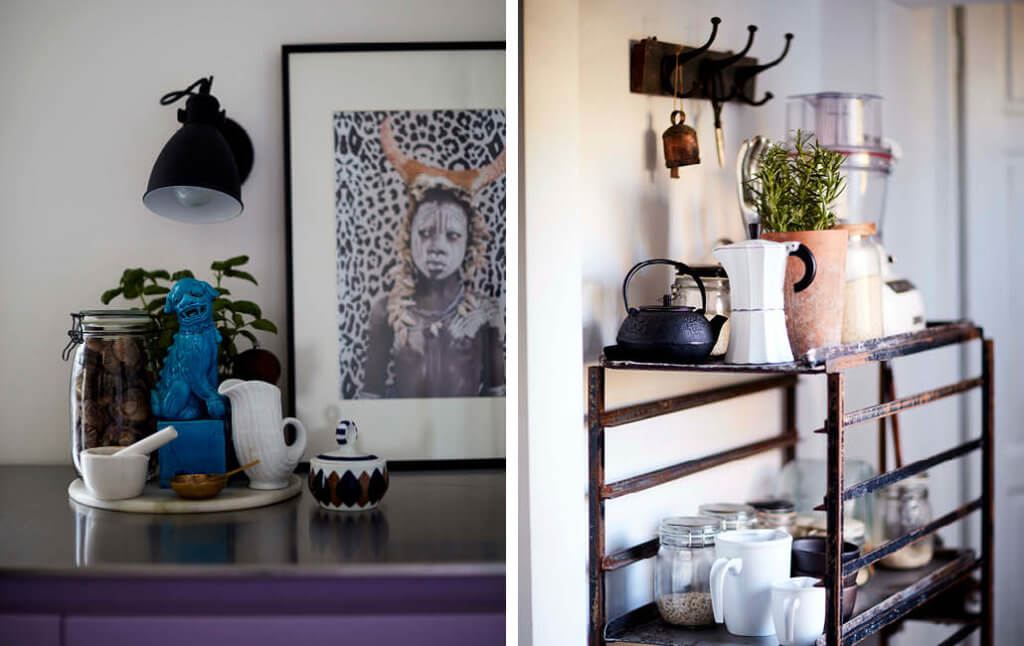 art of display with everyday objects in the kitchen.