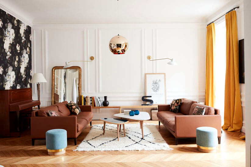Quentin Leroux's vibrant living room. As featured in Rockett St George:Extraordinary Interiors