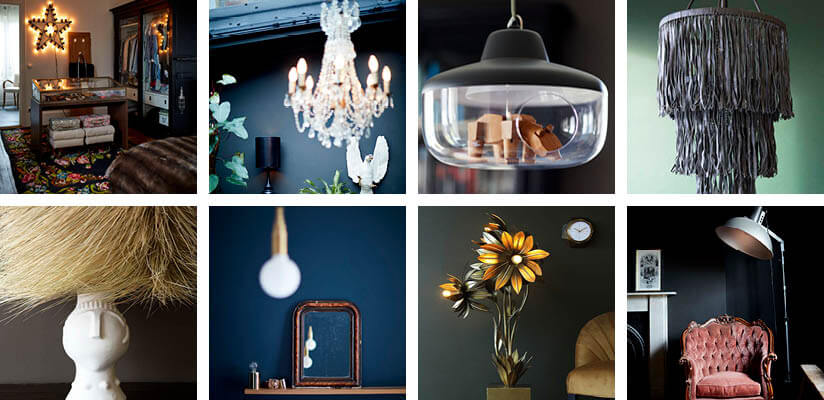 A collage of cool and quirky light features