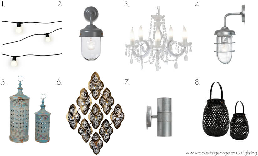 A selection of Rockett St George lights