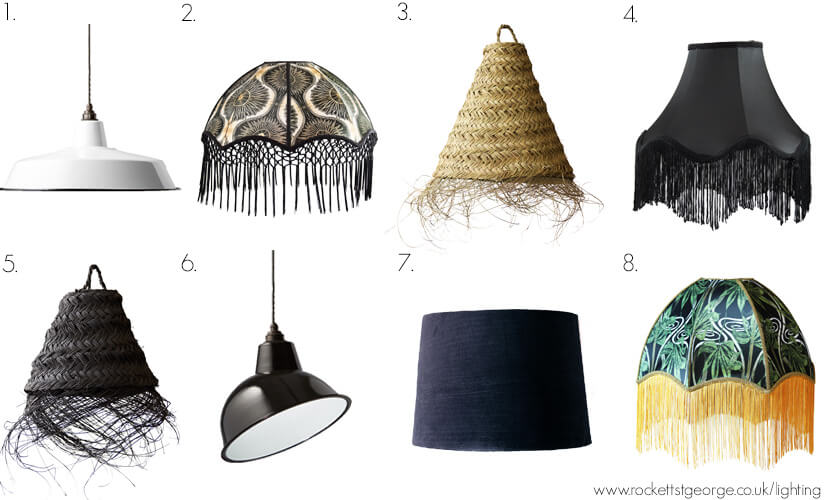 A selection of Rockett St George lamp shades