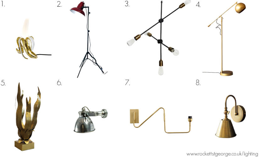 A selection of Rockett St George lighting