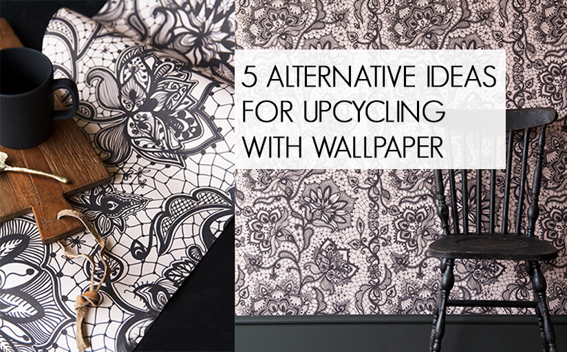 Image featuring the Boudoir Lace Wallpaper - click to read out upcycling wallpaper blog