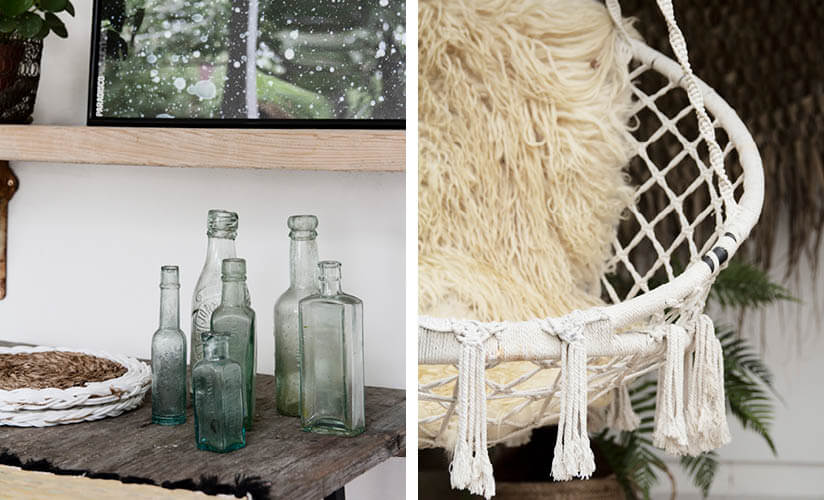 outdoor details, bottles and swing