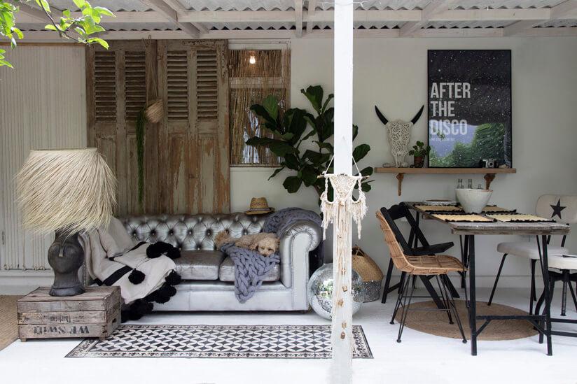 living room style garden decor