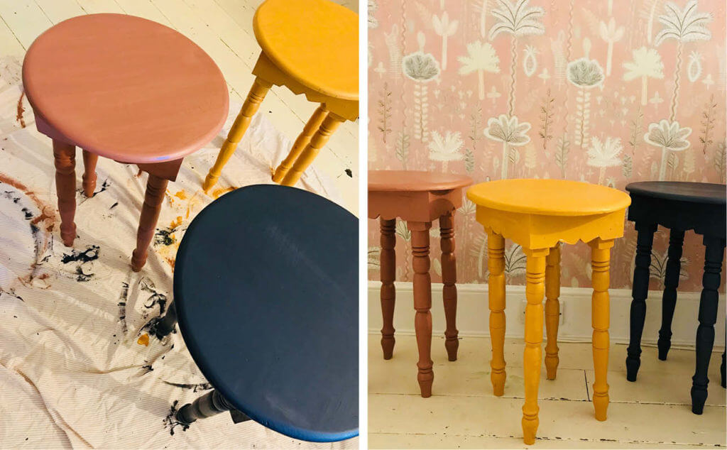 DIY Hand Painted Tables How-To Guide With Artist Lucy Tiffney