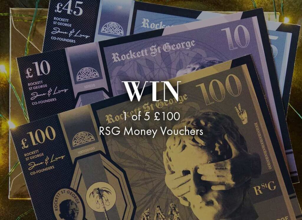 Lifestyle image of rockett st george money vouchers available in £100, £45 and £10