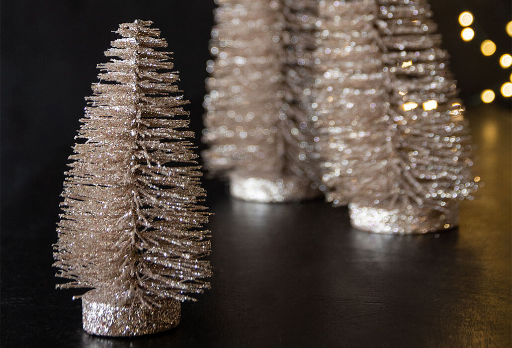 Champagne-Gold-Glitter-Christmas-Tree-Decoration