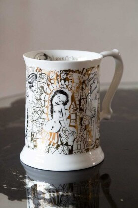 bone china tankard mug by Peter Andrews for Arthouse unlimited
