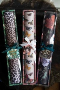 lifestyle image of 3 boxes of patterned paper drawer liners
