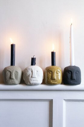 The quirky faces candle holders are top of our adult stocking filler list