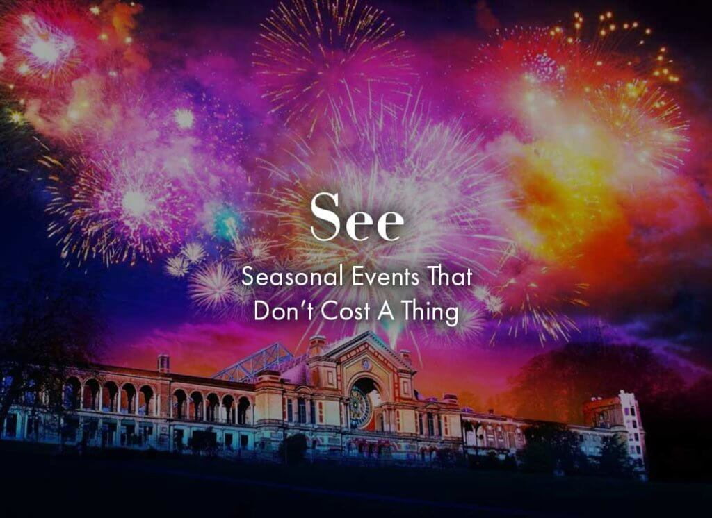 Fireworks at Alexandra Palace on the rockett st george november 2019 hot list