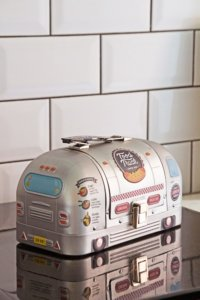 lifestyle image of Christmas Stocking Fillers for Young Adults - Airstream-Style Food Truck Lunch Box
