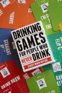 lifestyle image of novelty Christmas stocking filler games - Drinking Games For People Who Never Drink (Except When They Do)