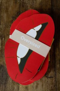 lifestyle image of Christmas Stocking Fillers for Young Adults - red lips notebook