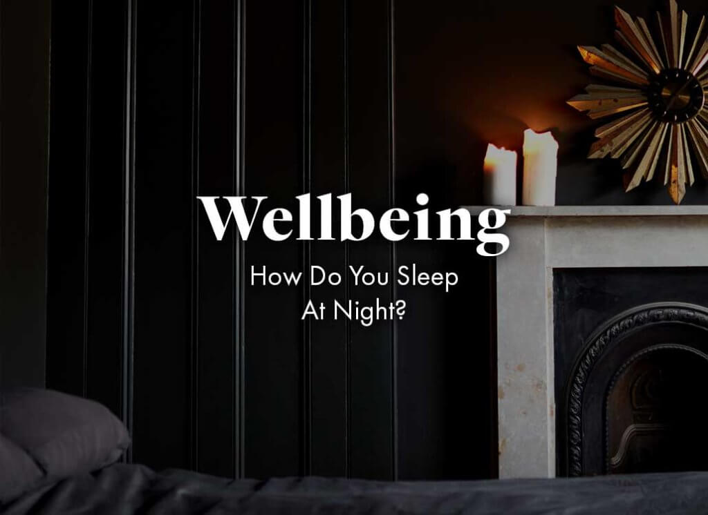 dark bedroom with the graphics - Wellbeing: How do you sleep at night?