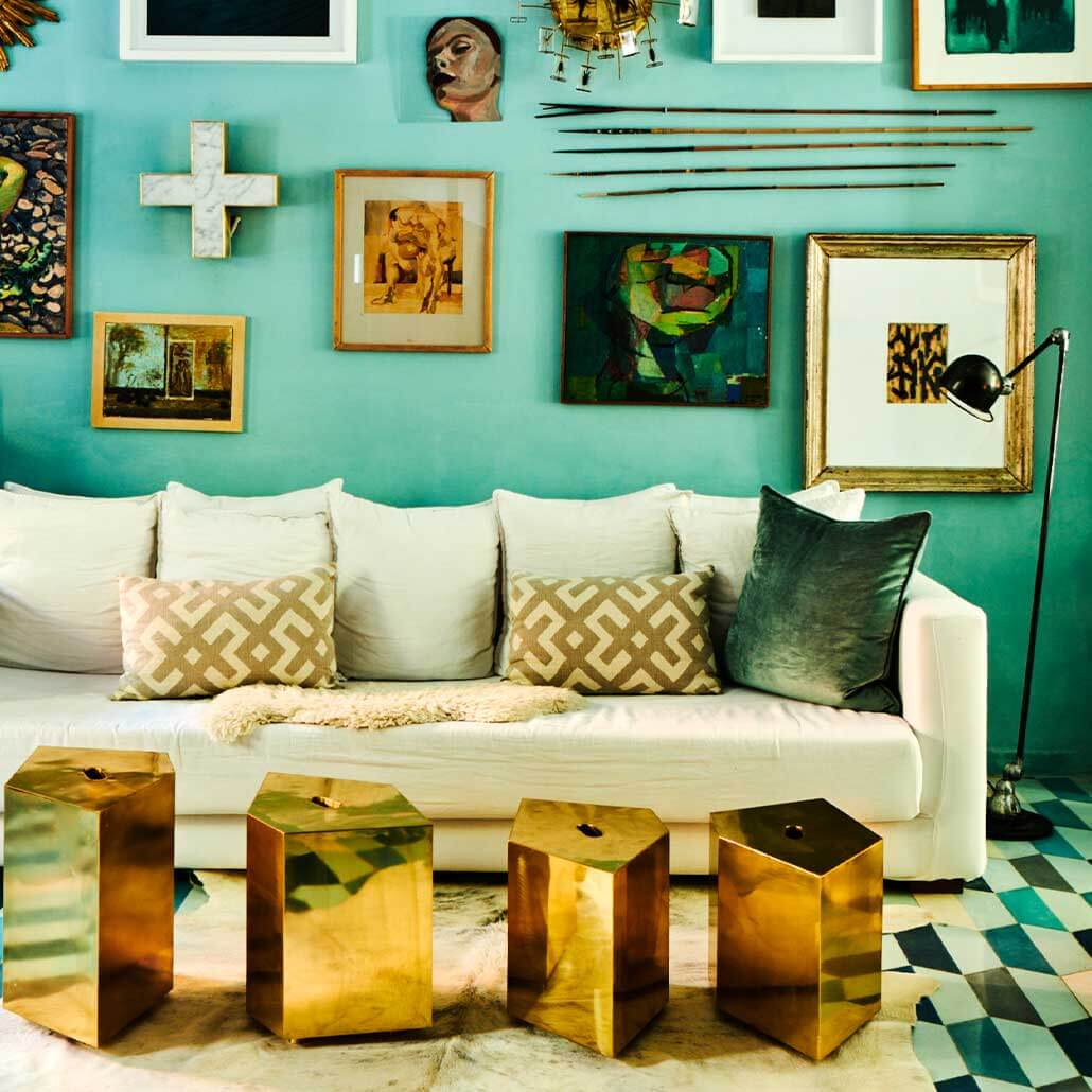Colourful Living Room Inspiration