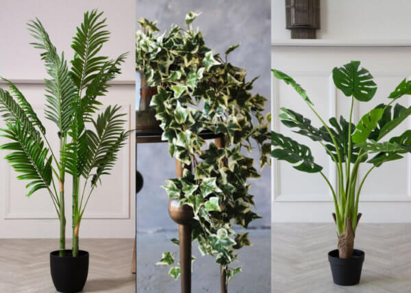 Selection of faux plants for bathroom