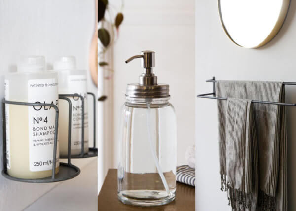Selection of bathroom accessories