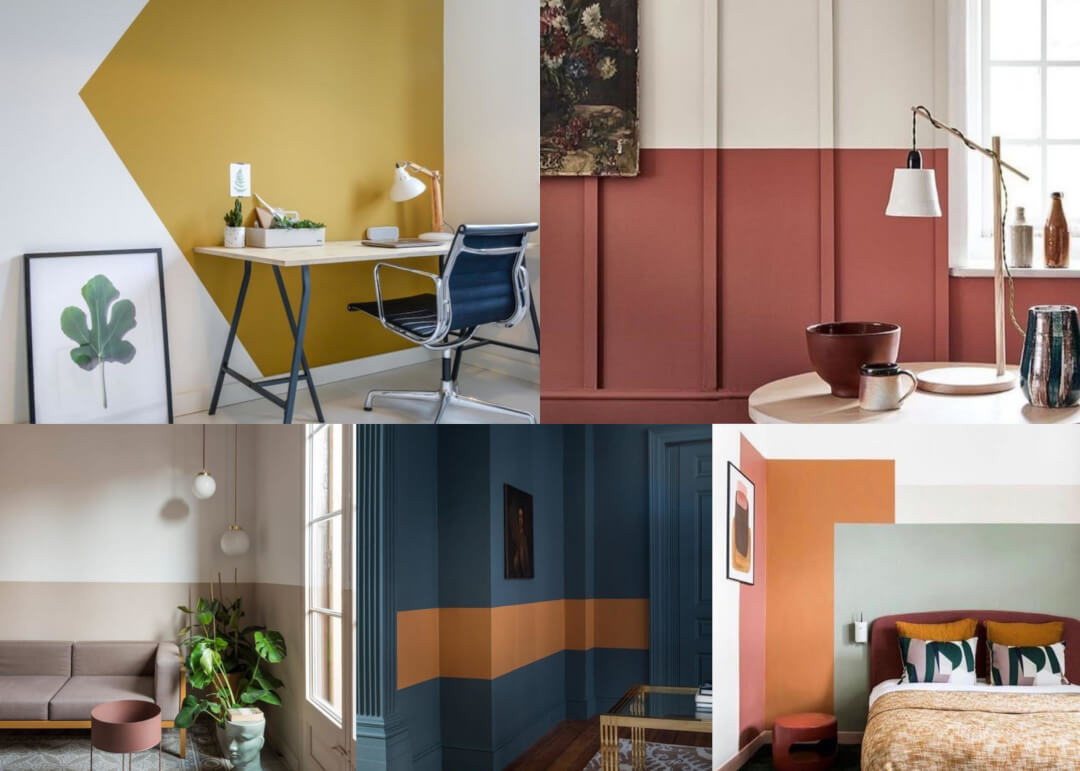 Paint colour blocking office inspiration