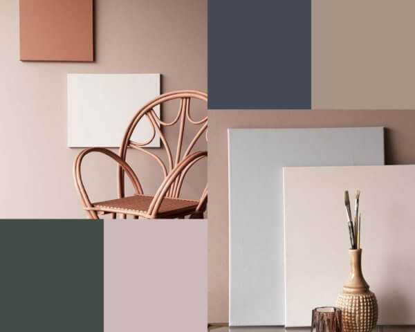 Selection of Rocket St George neutral paint colours