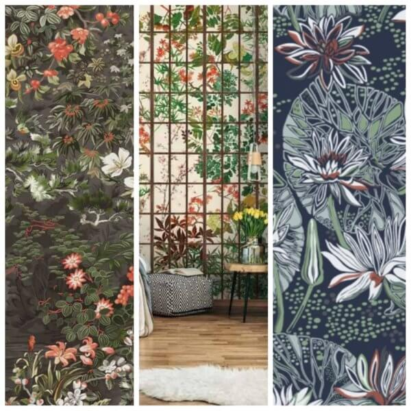Selection of botanical wallpapers