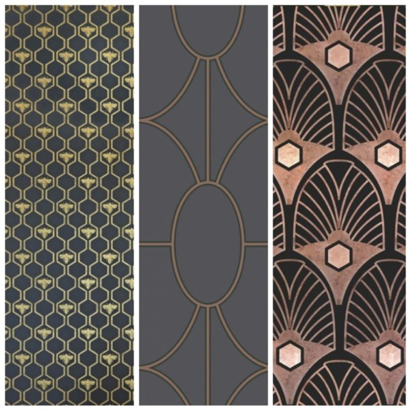 Selection of Art Deco wallpaper
