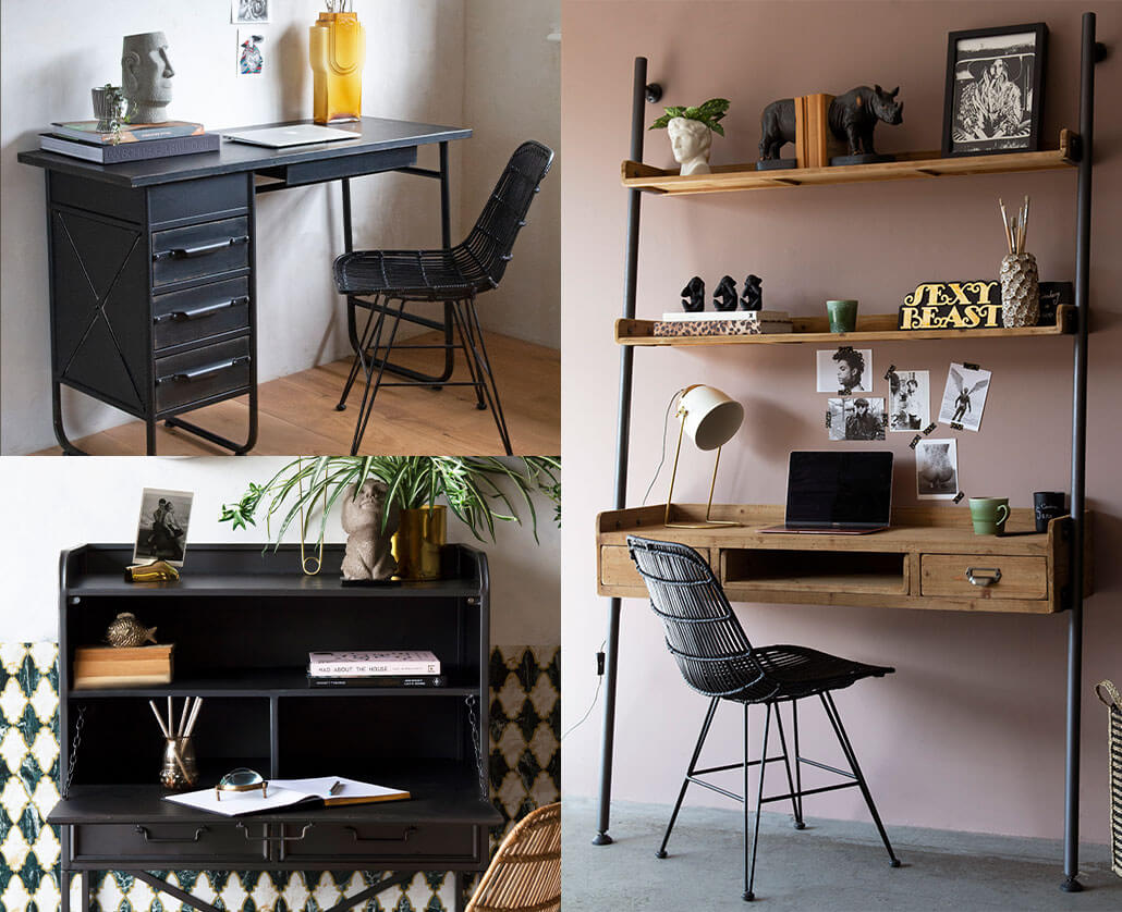 Selection of space saving desks