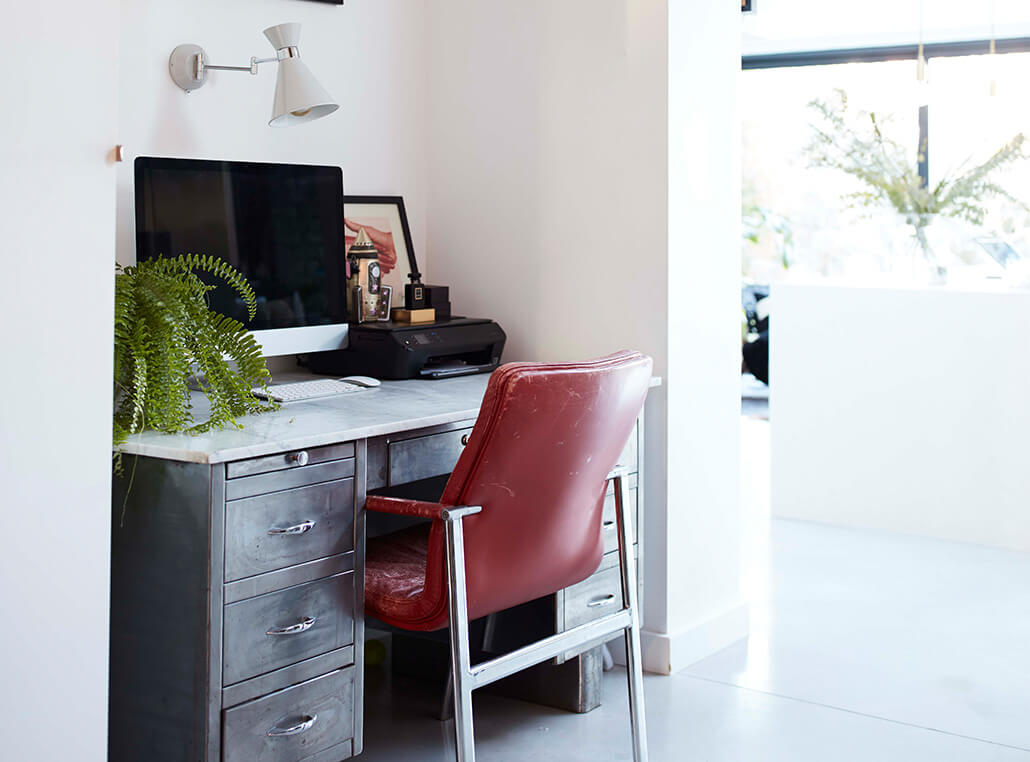 Home office on small space