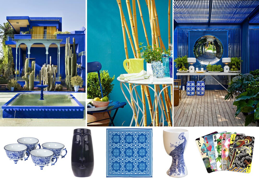 lifestyle image of beautiful blue outside space ideas