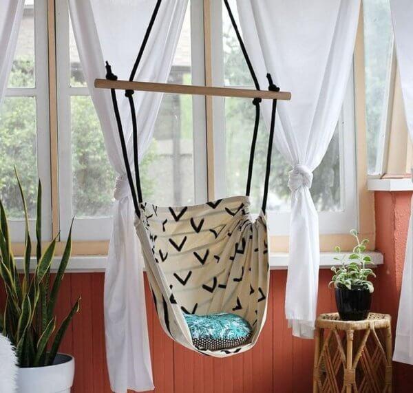 DIY hanging chair for garden