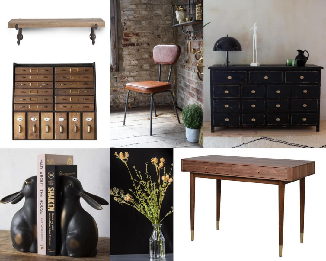 Selection of cottage style office pieces
