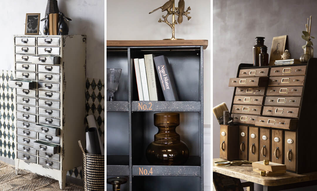 lifestyle images of home office storage ideas