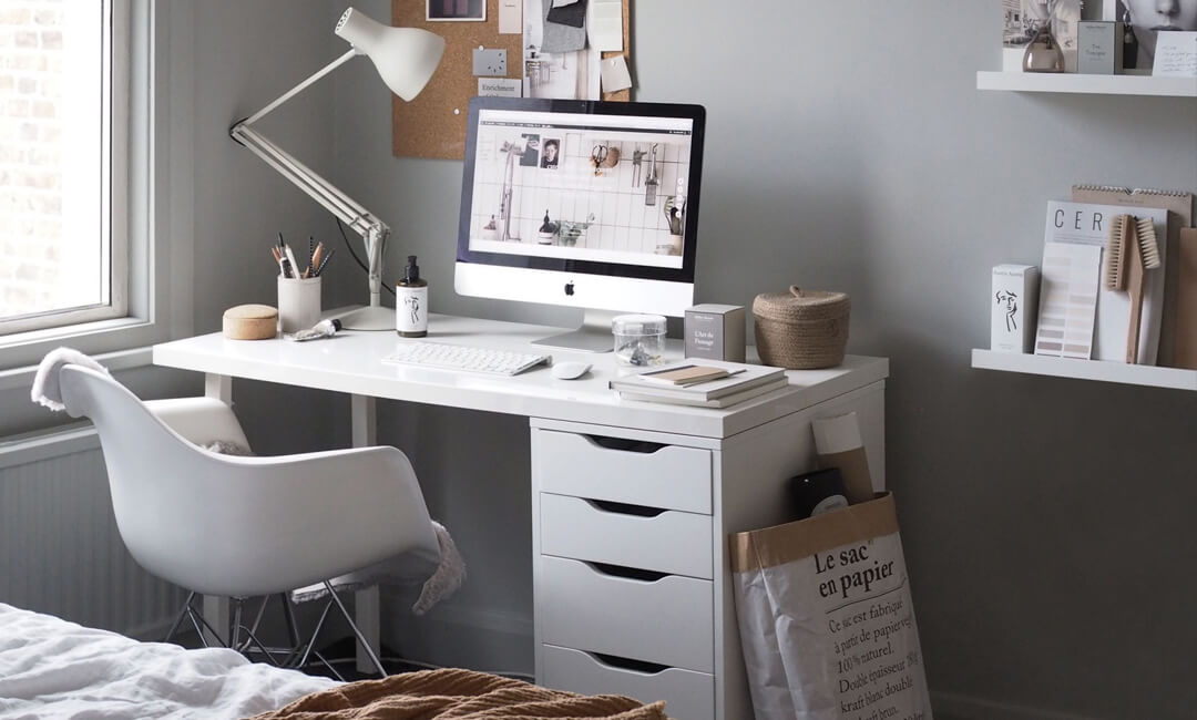 lifestyle image of spare bedroom office space