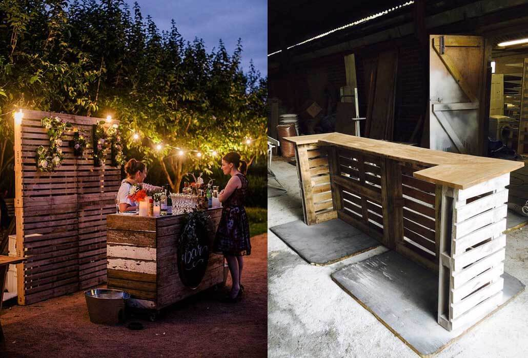 DIY bar made from wooden pallets