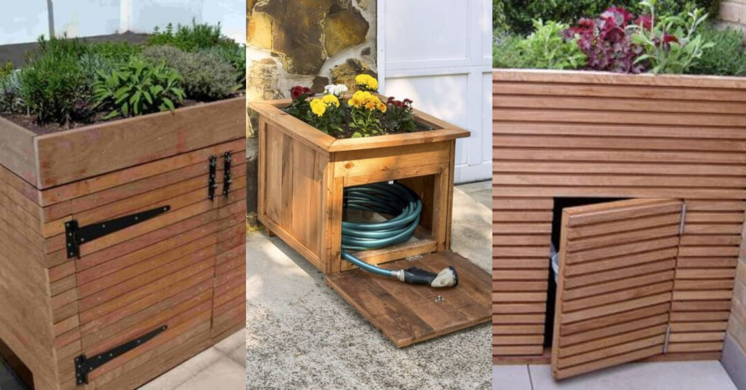 Raised flower beds with storage