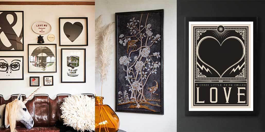 lifestyle images of uplifting artwork and gallery wall ideas