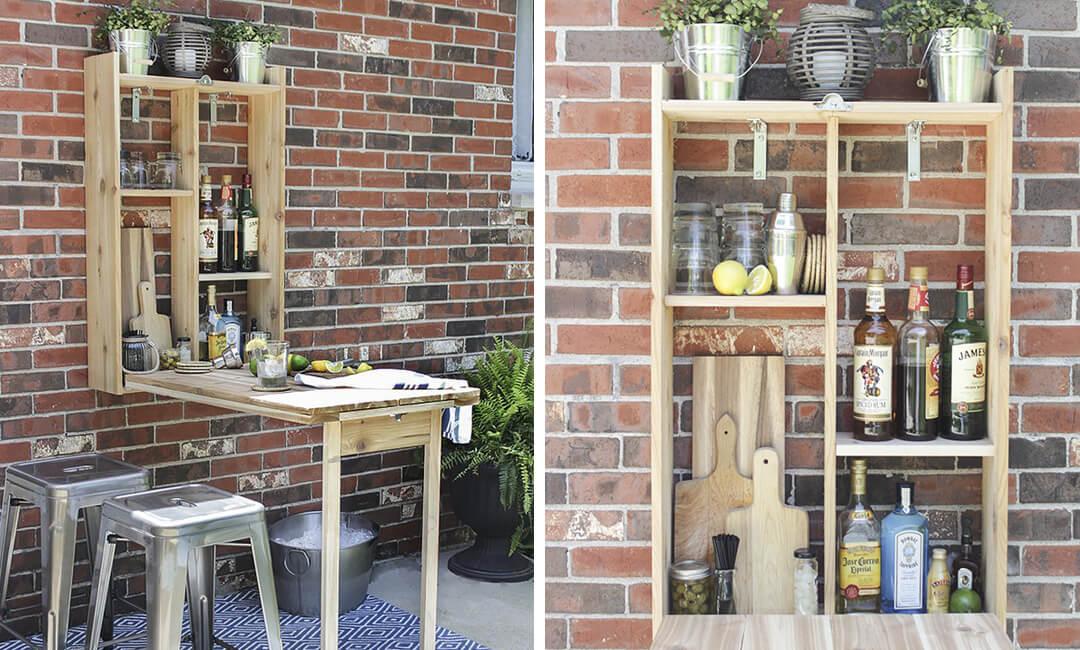 lifestyle image of DIY garden bar