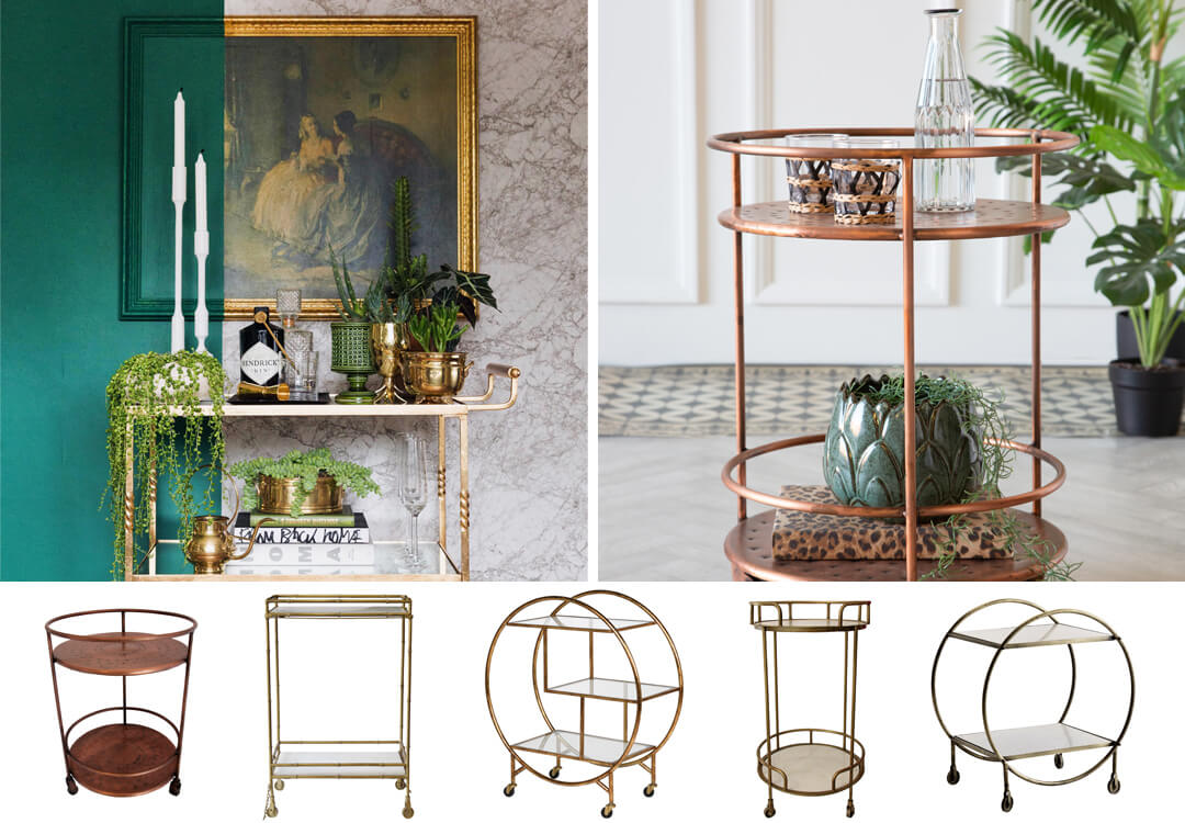 lifestyle and cut out images of bar cart garden room furniture ideas