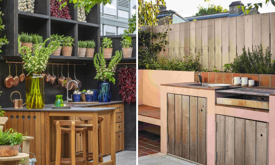 lifestyle images of outdoor kitchens