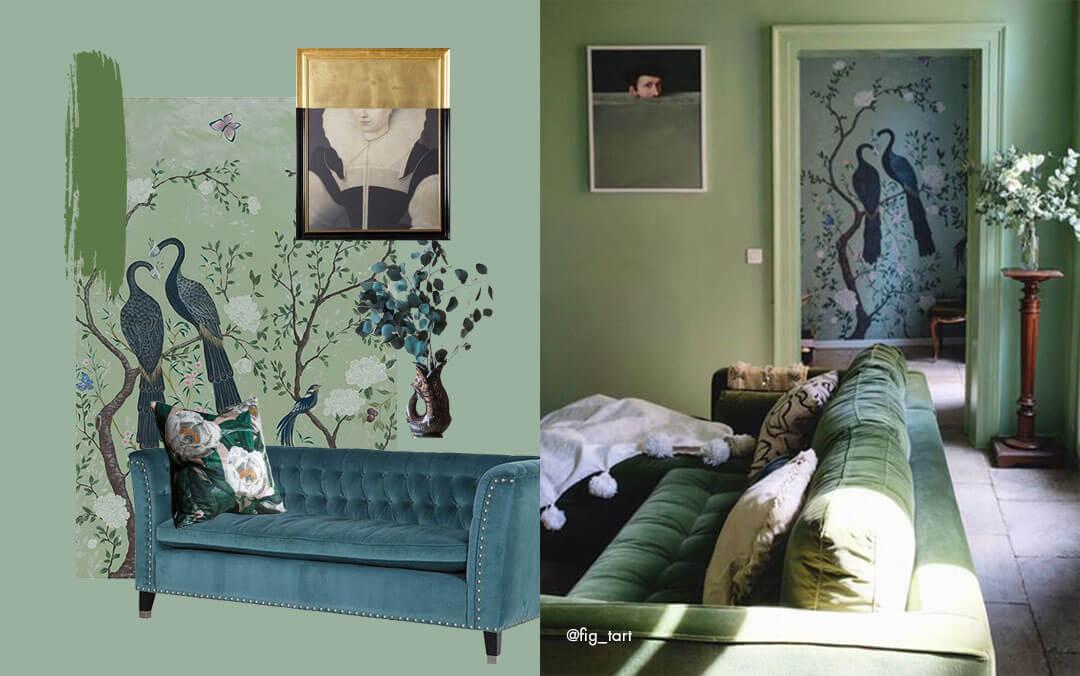 Interior Design Ideas using green