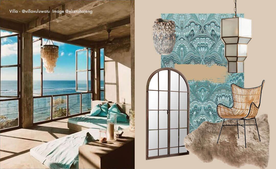 blue Interior design ideas by the sea