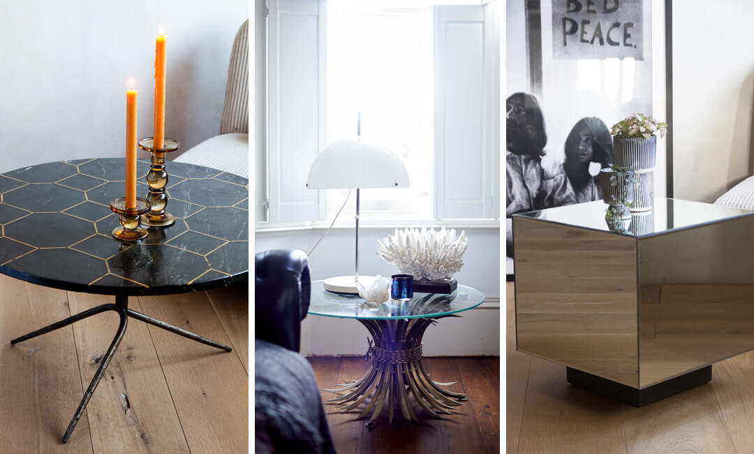 lifestyle images of side table ideas for home furniture