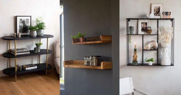 Small space shelving solutions