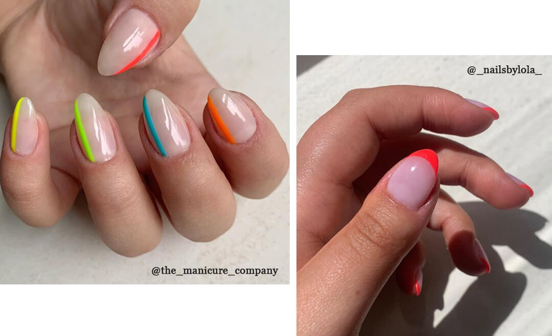 Neon nail art design from nails by lola instagram
