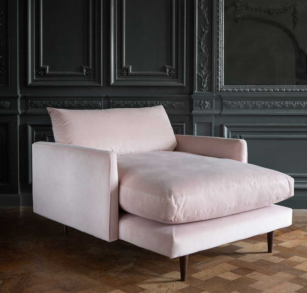 Chaise Snuggler Chair - how to arrange a loveseat