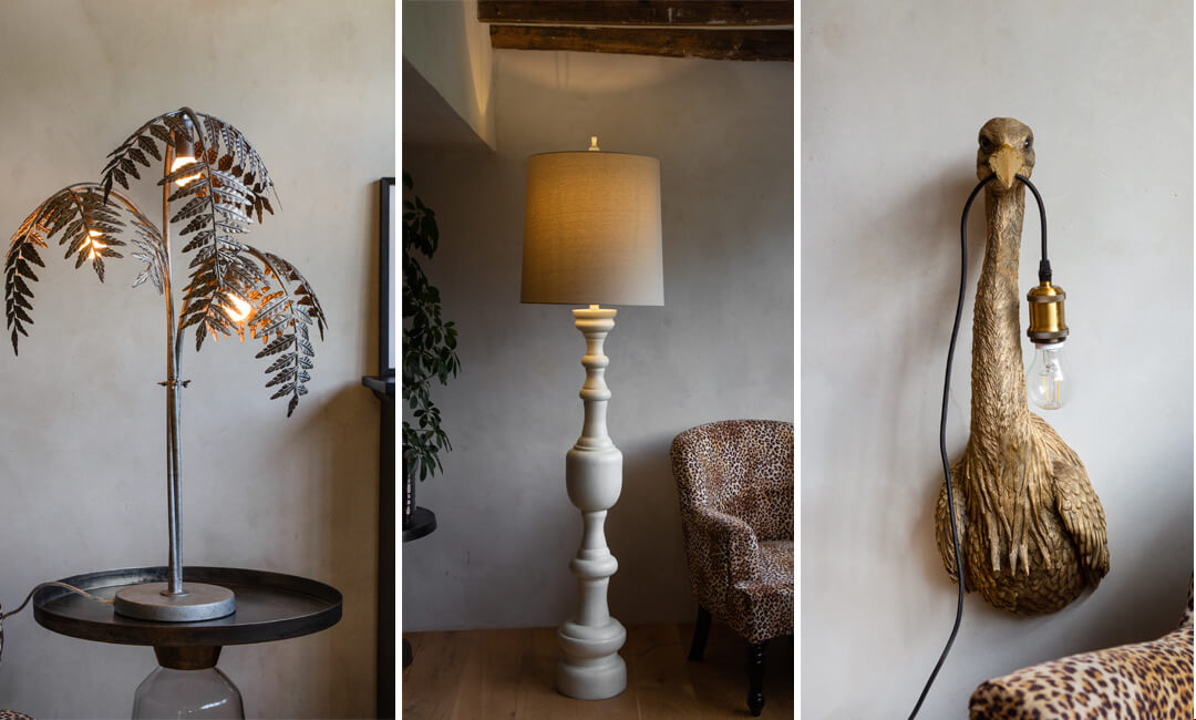 lifestyle images of new lighting designs from Rockett St George