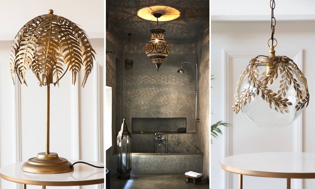 lifestyle images of lights that create shadow and pattern