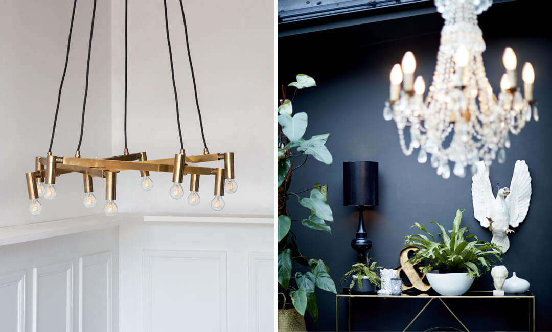 lifestyle images of statement ceiling light ideas